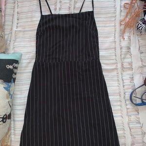 Fabric overall dress